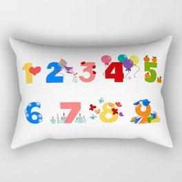 numbers Rectangular Pillow