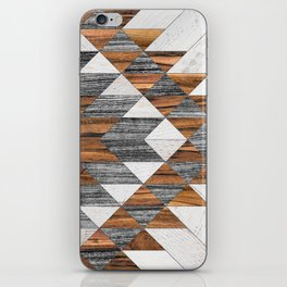 Urban Tribal Pattern 12 - Aztec - Wood iPhone Skin