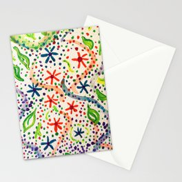 Flower abstract acrylic painting Stationery Cards