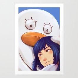 Zura and Ellie Art Print