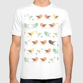 Assorted birds pattern T-shirt