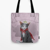 sith Tote Bags featuring Cait Sith by poopbird