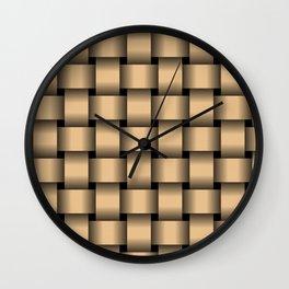 Large Burlywood Orange Weave Wall Clock