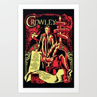 crowley Art Prints featuring Crowley by Tracey Gurney
