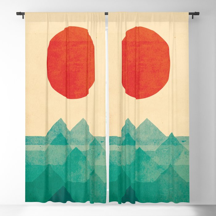 The ocean, the sea, the wave Blackout Curtain