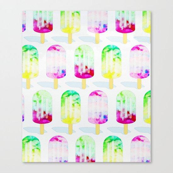 Popsicle Frenzy #society6 #decor #buyart Canvas Print