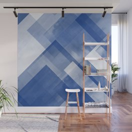 Untitled No. 8 | Blue + White Wall Mural