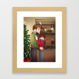 Fitzsimmons - Mistletoe Fluff Framed Art Print