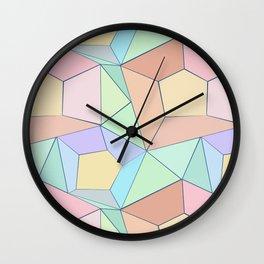 Polygonal multi-color pattern. Wall Clock