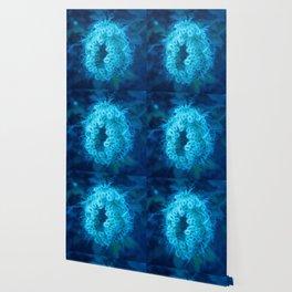 Blue Closing Queen Anne's Lace Wallpaper