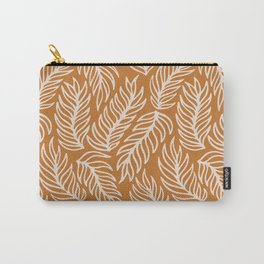 Mustard Palm Leaves Pattern Carry-All Pouch