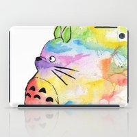 rainbow iPad Cases featuring My Rainbow Totoro by scoobtoobins