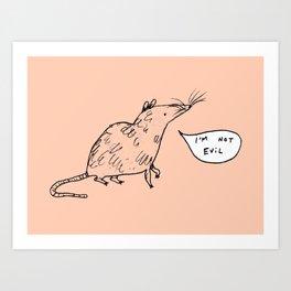 Rats Aren't Evil Art Print