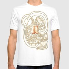 Hands... White Mens Fitted Tee MEDIUM