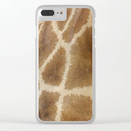 skin of a giraffe Clear iPhone Case