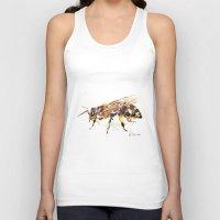 bee Tank Tops featuring Bee by Elena Sandovici