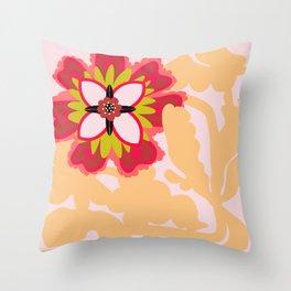 Gracefully awkward flower Throw Pillow
