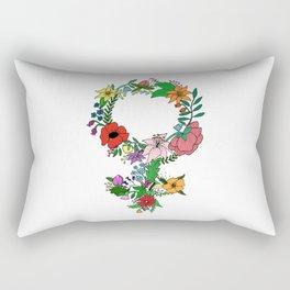 Feminist flower in color Rectangular Pillow
