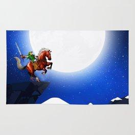 legend of zelda in the big moon Rug