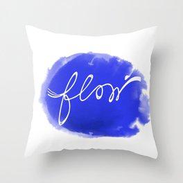 Watercolor flow Throw Pillow