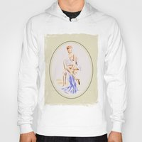 erotic Hoodies featuring Erotic lady in lingerie - Retrostyle by Marita Zacharias
