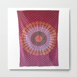 Mandala Wall Art Tapestry Metal Print