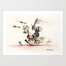 Playing Games Art Print