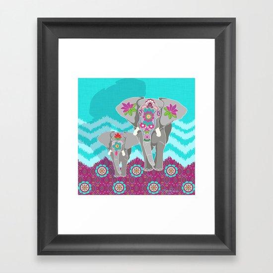 Elephant Festival Framed Art Print