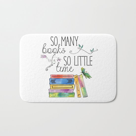 So Many Books, So Little Time Design Bath Mat