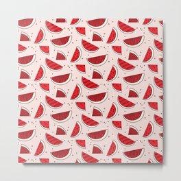 Watermelon red pink Metal Print