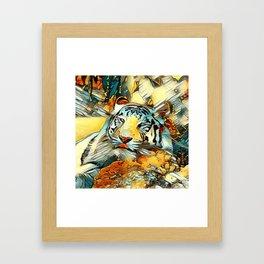 AnimalArt_Tiger_20170603_by_JAMColorsSpecial Framed Art Print