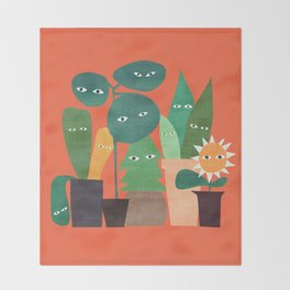 The plants are watching (paranoidos maximucho) Throw Blanket