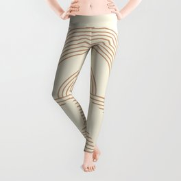 Geometric lines in Neutral Colors 12 (Sunrise and Sunset) Leggings