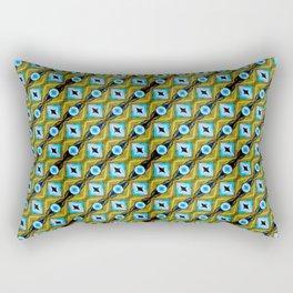 Cornfield N' Blue Sky Pattern Rectangular Pillow