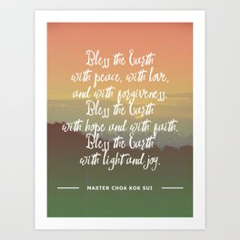 Bless the Earth Art Print