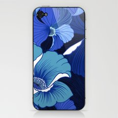 Blue For Poppies iPhone & iPod Skin