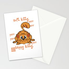 A perfect gift for cat lovers, pet lovers, who mostly like kitten, pussy cat Happy Soft & Warm Kitty Stationery Cards