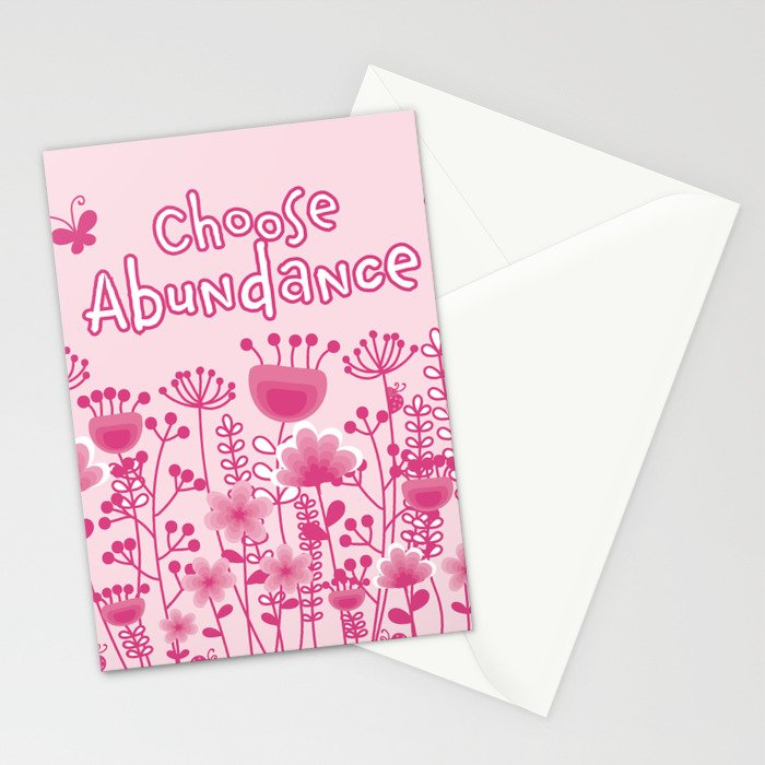 Choose Abundance Stationery Cards