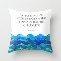 Throw Pillows featuring Maritime Humor from a Dad  by Liesl Marelli