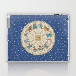 Vintage Astrology Zodiac Wheel Laptop & iPad Skin