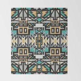 Ethnic african geometric pattern Throw Blanket