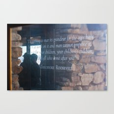 Theodore Roosevelt Grand Canyon Quote Canvas Print