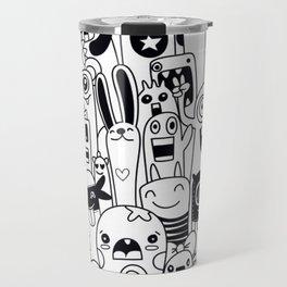 Funny monsters pattern Travel Mug