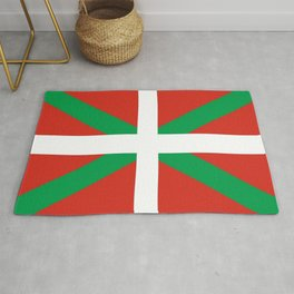 Flag of Euskal Herria-Basque,Pays basque,Vasconia,pais vasco,Bayonne,Dax,Navarre,Bilbao,Pelote,spain Rug