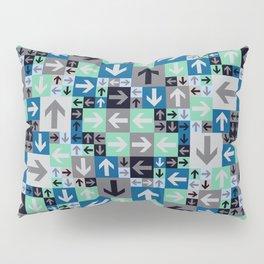 Arrow Pattern Blue Green Gray Pillow Sham