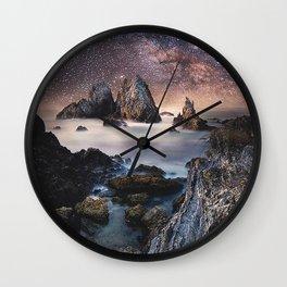 Milky Way Stars Sea Coast Wall Clock