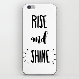 Rise And Shine Typography iPhone Skin
