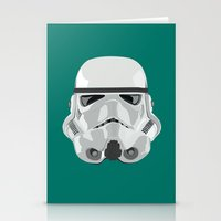 storm trooper Stationery Cards featuring Storm Trooper by Inza Vita