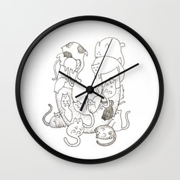 Pussy Magnet (No Color) Wall Clock