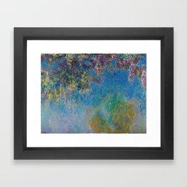 Wisteria by Claude Monet Framed Art Print